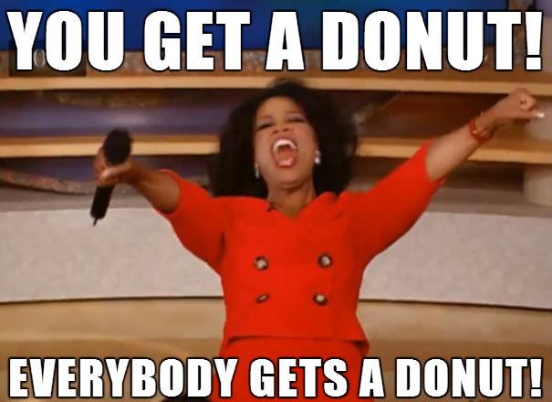 Oprah loves doughnuts