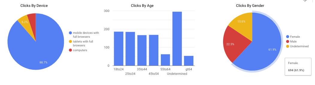 Several graphs showing basic demographic data.