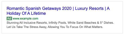 Romantic Getaway Ad